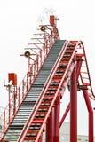 Roller coaster tracks Stock Photo