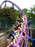 Roller Coaster Tunnel. Roller Coaster train going into a tunnel Royalty Free Stock Photography