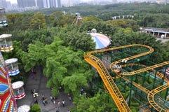 Roller coaster tunnel Stock Photos