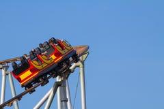 Roller coaster turning left Stock Image