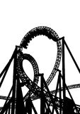 Roller coaster two. High roller coaster for a ride on a white background stock illustration