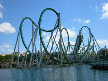 Roller coaster. In Universal studios Orlando Stock Photography