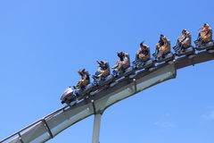 Roller coaster in Universal Studios,Osaka Japan. Stock Images