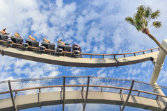 Roller coaster in Universal Studios,Osaka Japan. Stock Photos