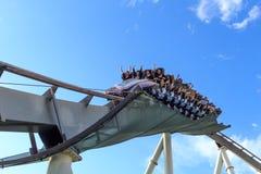 Roller coaster in Universal Studios,Osaka Japan. Royalty Free Stock Images