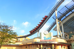 Roller coaster in Universal Studios,Osaka Japan. Royalty Free Stock Photo
