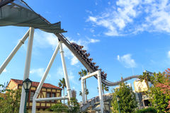 Roller coaster in Universal Studios,Osaka Japan. Stock Image
