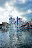 Roller coaster in Universal Studios Singapore Royalty Free Stock Images