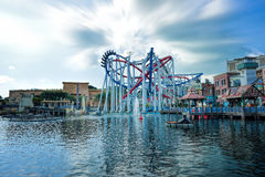 Roller coaster in Universal Studios Singapore Royalty Free Stock Photography