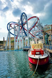 Roller coaster in Universal Studios Singapore Royalty Free Stock Image