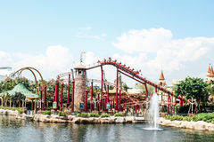Roller coaster in Universal Studios. Stock Photography