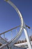 Roller coaster vacío Foto de archivo libre de regalías