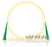 Roller coaster vector illustration Royalty Free Stock Photo