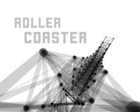 Roller coaster vector illustration Royalty Free Stock Image