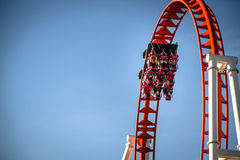 Roller coaster vermelho Foto de Stock Royalty Free