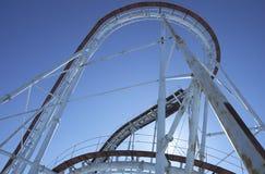 Roller coaster viejo vacío Fotos de archivo