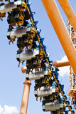 Roller coaster view against summer sky Royalty Free Stock Images