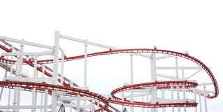 Roller of coaster on white background. Royalty Free Stock Photos
