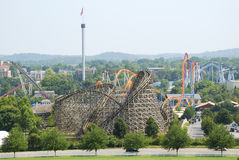 Free Roller Coasters At Amusement Park Royalty Free Stock Photography - 51795717