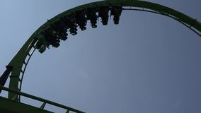Roller Coasters, Rides, Amusement Parks. Stock video of roller coasters stock video