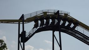 Roller Coasters, Rides, Amusement Parks. Stock video of roller coasters stock video footage