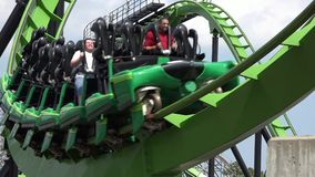 Roller Coasters, Rides, Amusement Parks stock video