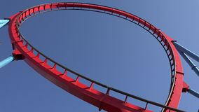 Roller Coasters And Thrill Rides Royalty Free Stock Photo