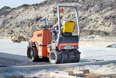 Roller compactor Stock Photos