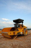 Roller Compactor / Road Roller at Construction Site Royalty Free Stock Image