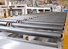 Roller conveyer Royalty Free Stock Photography