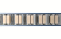 Roller Conveyor With Boxes Royalty Free Stock Images