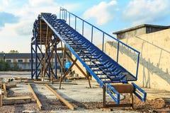 Roller conveyor (horizontal) Royalty Free Stock Photo