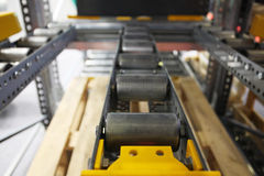 Roller conveyor Royalty Free Stock Image