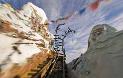 Roller coster motion blur Disney 2. Roller coster motion blur at Disney`s Animal Kingdom Mount Everest Ride Stock Image