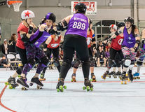 Roller Derby Action Royalty Free Stock Photography