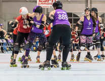 Roller Derby Action Stock Photo