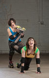Roller Derby Bully Stock Photo