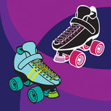 Roller Derby Skates. Vector derby-style roller skates. Skates can easily be extracted and colors changed with vector-editing software Stock Photos