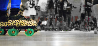 Roller derby skates closeup royalty free stock images