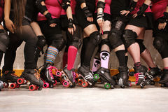 Roller derby team Stock Photos