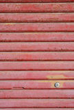 Roller Door. Texture of metal roller shutter closeup Royalty Free Stock Photos