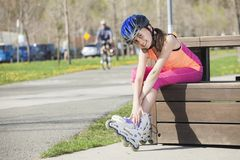 Roller exercise Stock Image