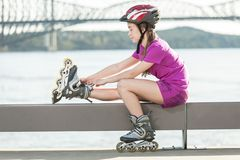 Roller exercise Royalty Free Stock Photo