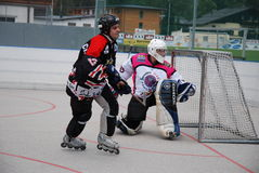 Roller hockey Royalty Free Stock Photos