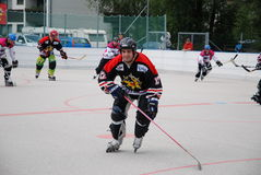 Roller hockey Stock Image