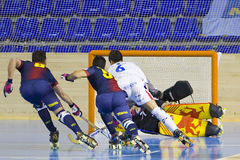 Roller Hockey Barcelona vs igualada Stock Photos