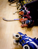 Roller hockey detail Stock Image