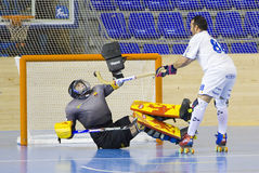 Roller Hockey goal Royalty Free Stock Photo
