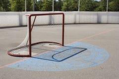 Roller Hockey Net. An outdoor net in a roller hockey rink Stock Images