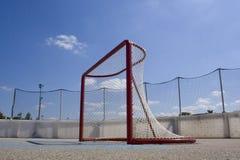 Roller Hockey Net. A net in an outdoor roller hockey rink Stock Image